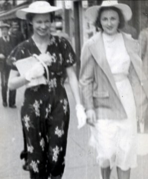 1940, Gerry (daughter of Lizzie and uncle Jim Rochford) and Henriette