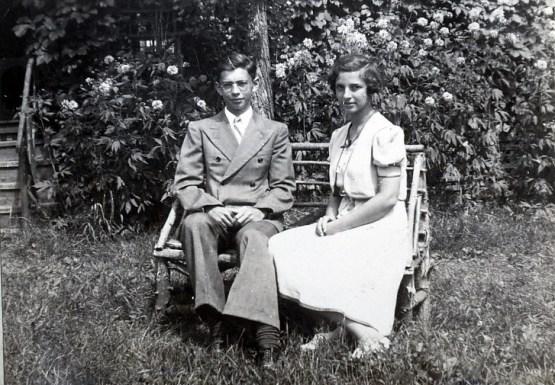 1940, Louis et Gaby de Kinder