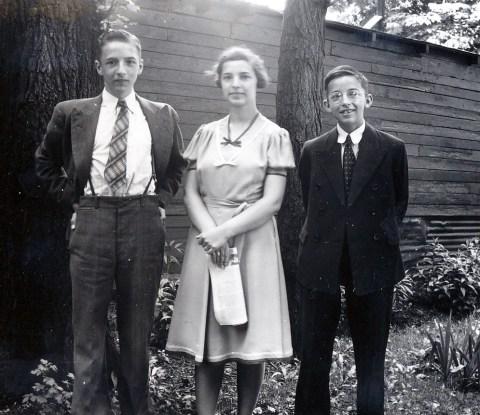 1940, Robert, Gaby et Maurice de Kinder