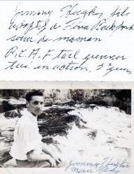1940 approx Jimmy Hughes, fils adoptif de Tina Rochford soeur d_Helena Rochford mère d_Albert