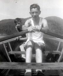 1940, lac Orford - Maurice et Louis de Kinder