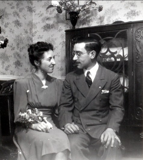 1941, avril, Jeanne et Jean-Paul fiançés