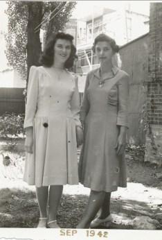 1942, Claire Hamelin et Gaby