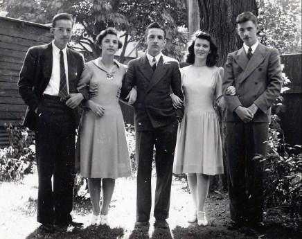1942, Maurice, Gaby, Robert, Claire et Louis