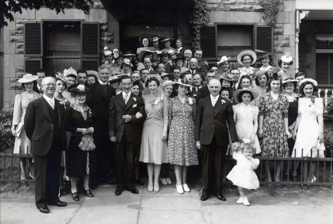 1942, mariage Jean-Paul Naubert et Jeanne de Kinder