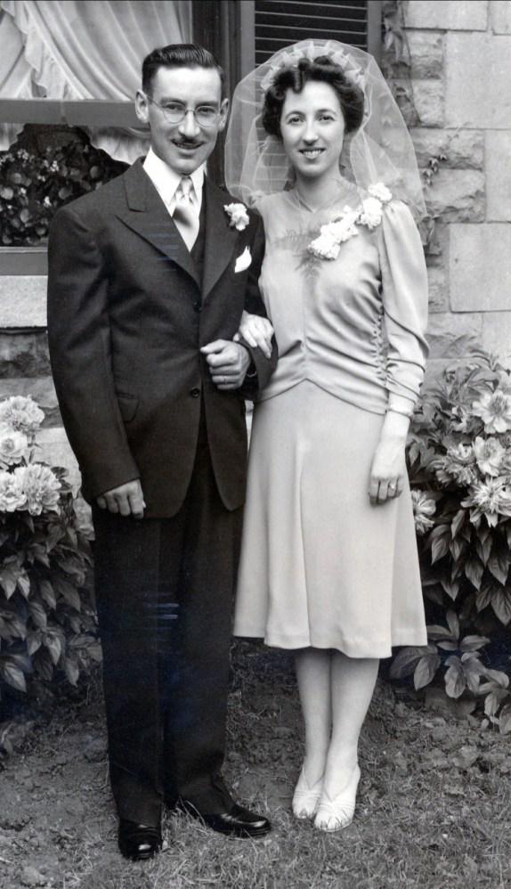 1942, mariage Jean-Paul et Jeanne