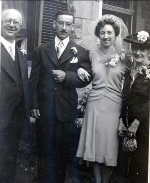 1942, mariage de Jeanne et Jean-Paul