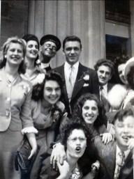 1944, Mariage de Laurette et Johnny Sofio, Albert et Jean Thivierge au centre