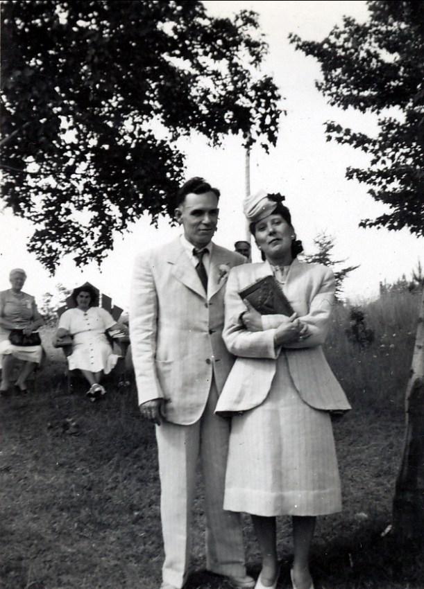 1947, Charles et Irène Fournier
