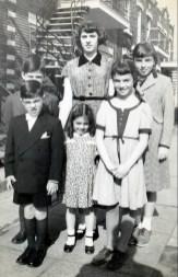 1948, Jimmy et Hélèna Sofio, Irène -2e Marc, Françoise Thivierge et Paulette