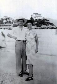 1948, approx Gérard Bessette et Gaby à Acapulco