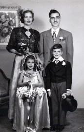 1948 approx Laurette et Johnny, Hélèna et Jimmy Sofio