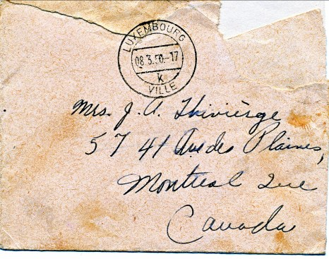 1950, lettre de Mary Estelle-1