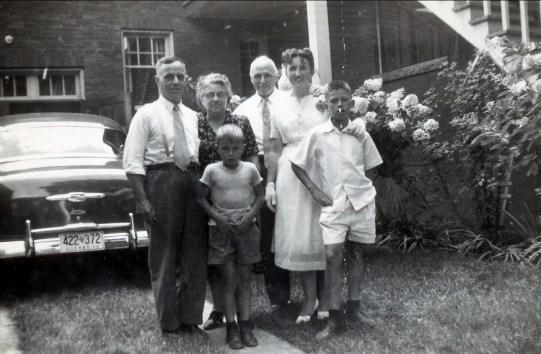 1953, Romuald et Fédora Janelle, Bobby, François de Kinder, Henriette, Marc