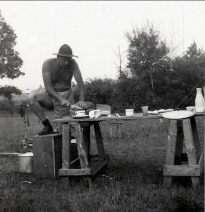 1955, Albert à St-Canut