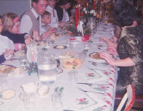 1958, approx fête de Noël chez François de Kinder