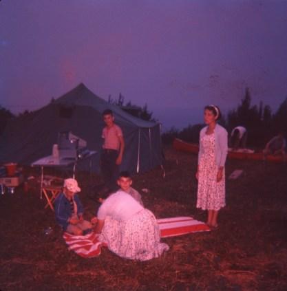 1959, Chibougamau campement avec les Gruenefeld