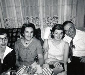 1959, Gaby, Henriette, Ruth et Albert