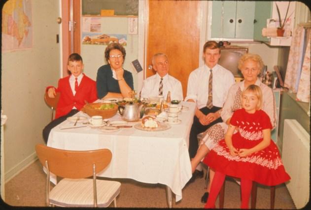 1959, Richard, Henriette, Theo, Peter et Alida Kemper, Claire