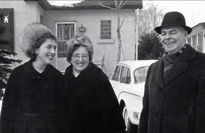 1962, Paulette, Henriette et Albert Thivierge