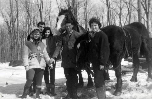 1964, Carole, Yvan et Dragana, Marc et Irène