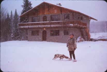 1969, chantier Val-David Henriette maison 1