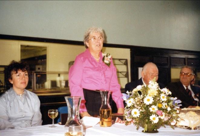1984, Henriette - départ travail en mars - discours