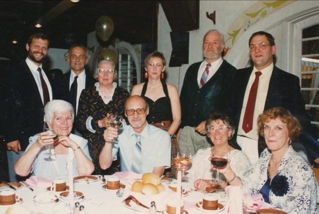 1990, 50e famille Van de Sande , Rose-Aimée, Claire Perreault et amis