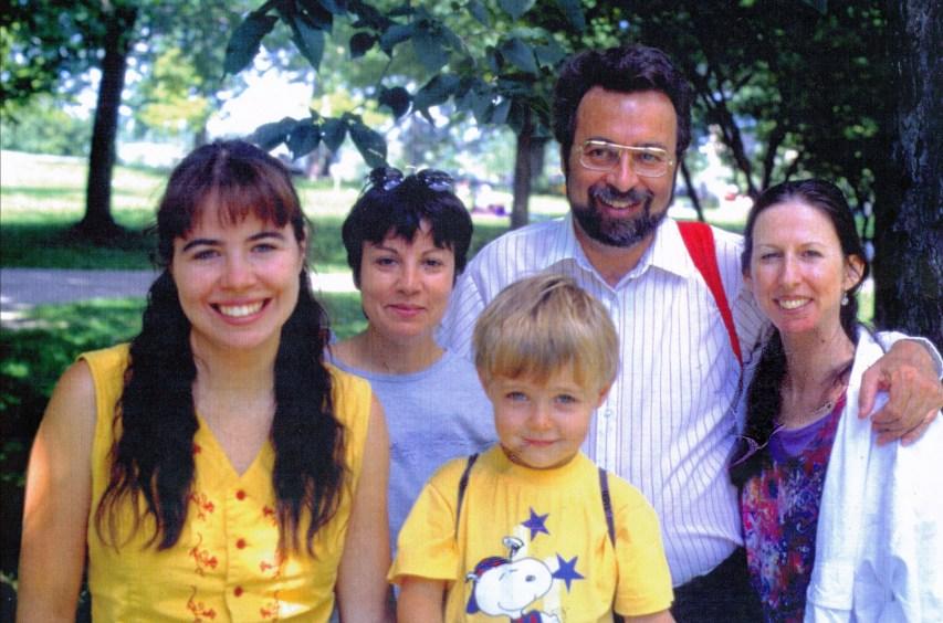 1995, Marie-Jo, Tina, Nicolas, Robert et Anne