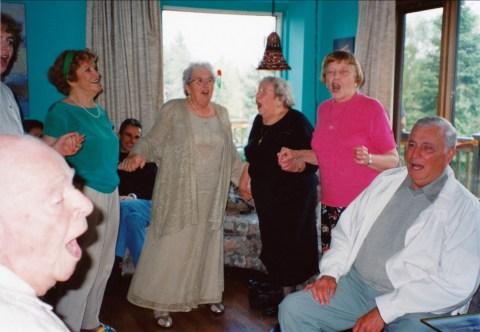 2000, 60e Claire Perreault, Henriette Thivierge, Myrtle et Anna George, Léo Thivierge