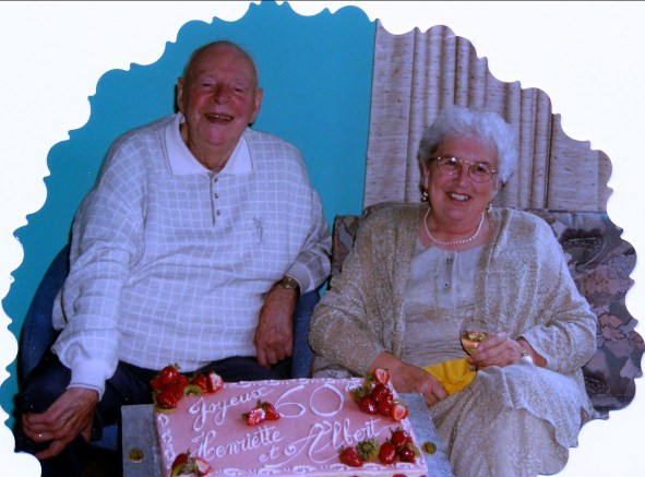 2000, 60e anniv. mariage Albert et Henriette