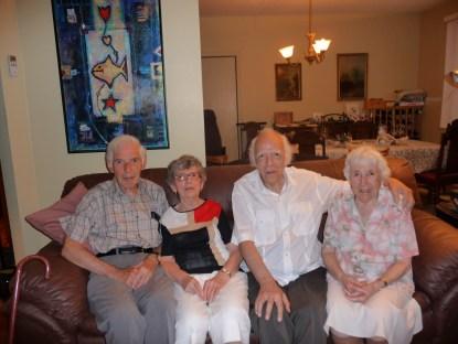 2009-07-08, anniv Gaby - Louis, Gaby, Maurice et Jeanne de Kinder