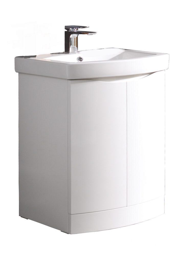 Kalos 600mm Floor Standing - Gloss White (Unit Only)