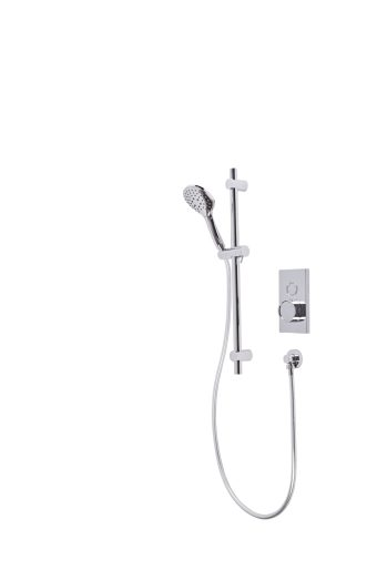 Axiom Single Function Push Button Concealed Shower System with Riser Kit