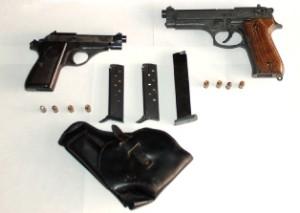 pistole sequestrate Gallipoli