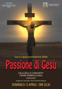 Locandina Passione di Gesù
