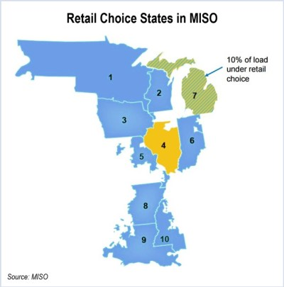 Retail Choice States in MISO - MISO board capacity auction