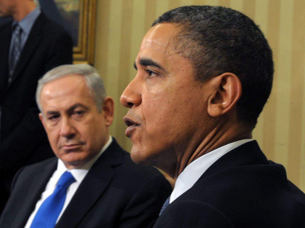 Le président américain Barack Obama a rencontré le Premier ministre israélien Benjamin Netanyahu mercredi à la Maison-Blanche. [AMOS BEN GERSHOM - Keystone]