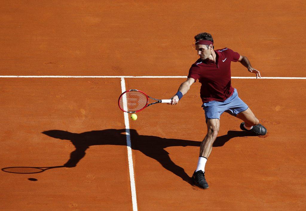 Retour gagnant pour Roger Federer lors du Masters 1000 de Monte-Carlo.