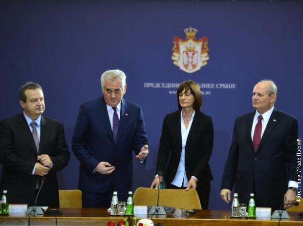 Ivica Dačić, Tomislav Nikolić i Ivan Mrkić