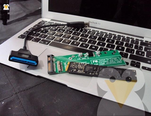 adaptador ssd mac a1466 2012 a puerto sata usb