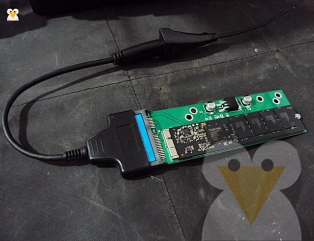 conectar el adaptador al puerto usb
