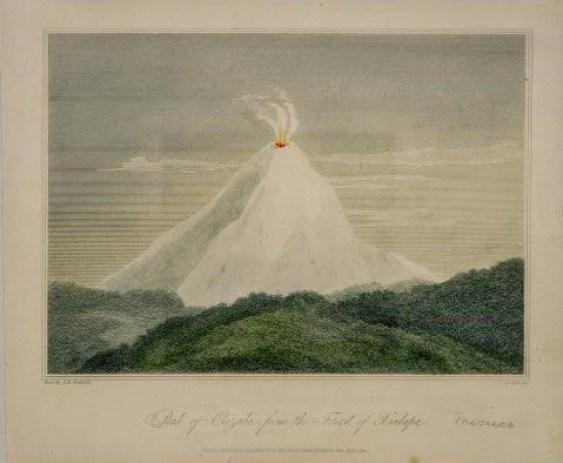 "Exhibirán el grabado ""Peak of Orizaba from the forest of Xalapa"" de  Humboldt,"