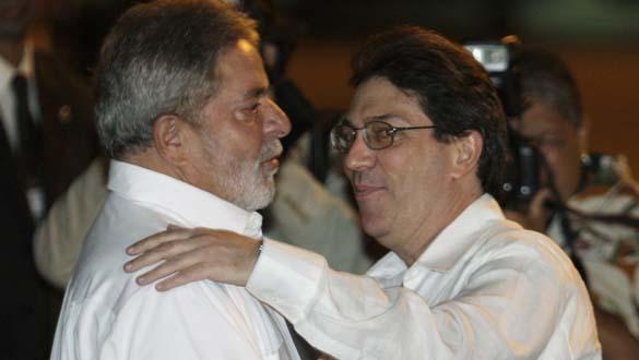 El presidente brasileño ha sido recibido esta manaña por el ministro de Relaciones Exteriores cubano
