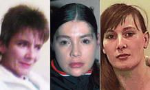 Imagen de las tres prostitutas asesinadas.