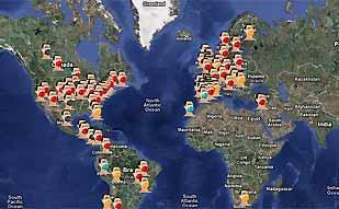 <center><B>La gripe en todo el mundo</b></center>