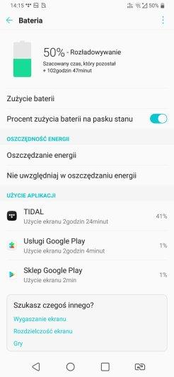LG V40: zużycie baterii jako player (2)