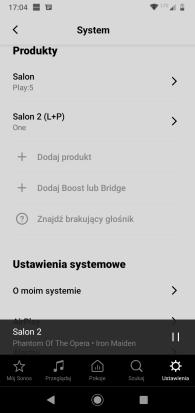 Aplikacja Sonos (10) ustawienia