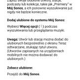 Aplikacja Sonos sekcja pomocy (1)