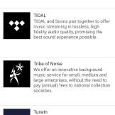 Sonos Port: przykładowe serwisy muzyczne (3)
